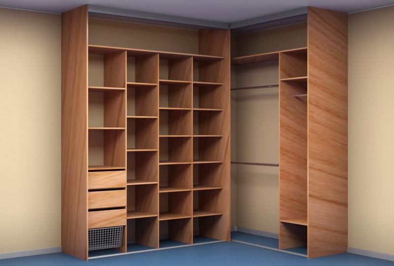 встроенный угловой шкаф купе в коридор Kupepiterru
